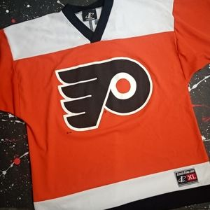 John LeClair vintage Flyers Logo Athletic jersey